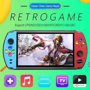 X19 7.0 inç Ekran El Cep Retro Video Oyun Oynatıcı FC CPS Neogeo Mini Oyun Konsolu için 1600/2500 Oyunlar