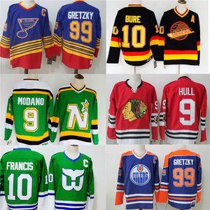 99 Wayne Gretzky 9 بوبي هال 9 جوردي هاو 9 ميدانو بافل يكره الفانيلة الهوكي الرجعية