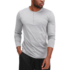 New fashion Lulu spring Fall Winter Round Coller Outdoor Casual Loose Tie Running Fitness Exercise Yoga Men's Long Sleeve T-Shirt