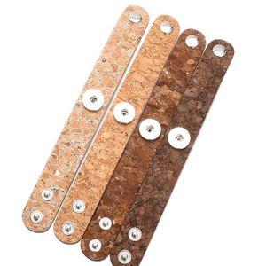 Hot Sale 4 Colors Retro Leather Snap Bracelet Vintage Metal Leather Bracelet Fit 18mm Snap Button Bracelet For Men jllPoP