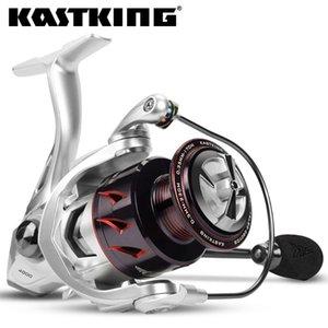 Kastking Spartacus II carrete de pesca de giro de la pesca de carbono arandela de arrastre de aluminio 10kg arrastrar 7 + 1 rodamientos de bolas para agua salada