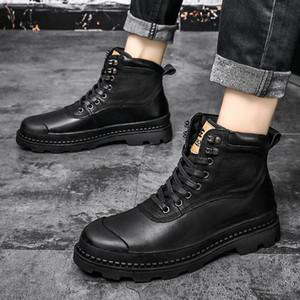 남성 신발을위한 2020 남자 부츠 모피 따뜻한 발목 부츠 성인 motocycle 눈 겨울 신발 남자 큰 크기 47 u1hr #