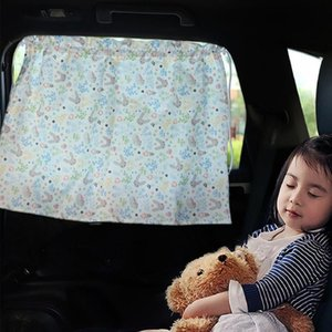 Curtain & Drapes Car Window Practical Cartoon Cotton Easy Installation Windshield Sunshade For Automobile UV Protection
