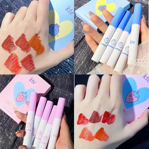 Kete Fruit Cigarette Tube Lipstick Set Lip Glaze Set Box Matte Lip Mud Lasting Waterproof Lip Gloss Cosmetic TSLM1