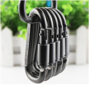 4pcs Durable Carabiner Travel Kit Camping Equipment Alloy Aluminum Survival Gear Camp Mountaineering Hook Outdoor C jllQxP