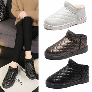 2019 Snow Boots Women Winter Shoes Students Warm Plush Inside Ankle Boot Round Toe Antiskid Black Grey White m4uW#