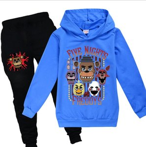 Kids Clothing Sets 2PCS Boys Girls Children's Set Cartoon animal printing Clothes sport Suit FNAF Outwear Hoodies+Long Pants C0223