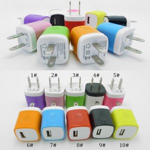 Colorful US Wall Charger 5V 1A Colorful NOKOKO Power Adapter Plug For iphone 7 8 x 11 for Samsung Lg android phone pc