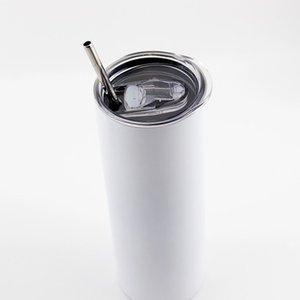 20 Unzen Tumbler Sublimation Skinny Tumblers Rohlinge Edelstahl Verjüngte Gerade Tumbler Cups Kurzwasserflaschen Kaffee TuTop Verkäufer