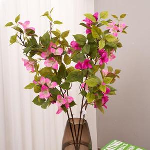 Model Begonvil Ev Dekorasyon Tek Şişe İmitasyon Çiçekler Yumuşak Yükleme Mühendisliği Malzemeleri Açık Tırmanma