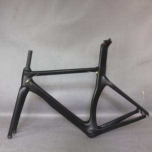 탄탄 공장 새로운 에이엔 아로 디자인 모든 검은 색 탄소 도로 자전거 프레임 탄소 섬유 레이싱 자전거 프레임 TT-X2 700C 회화 수락