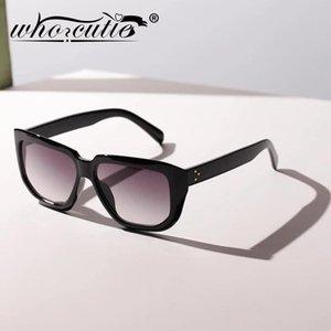 WHO Cutie Kadınlar Boy Güneş Gözlüğü Vintage Geniş Çerçeve 2021 Marka Tasarım Moda Kadın S328 Için Retro Güneş Gözlükleri Shades