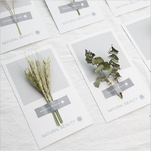 Kunst handgetrocknete Blumen Grußkarte 2021 Neue Persönlichkeit DIY Grußkarten Urlaub Universal Grußkarten Großhandel DWD5401