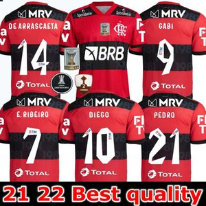 2021 2022 CR Flamengo Soccer Jerseys Flamand 20 21 22 de Arrascaeta B.Henrique Gabriel B. Diego Camisa de Futebol Football Shirts