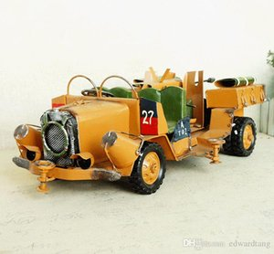 SM Iron& Metal Jeep Jungle Chariot SUV Car Model Toy,Retro Handmade Ornament, Xmas Kid Birthday Gift,Collecting, Bar Home Decoration,SMT1084