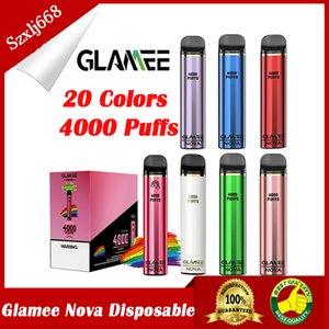 GLAMEE NOVA Disposable Device Kit 2200mAh Battery Prefilled 16ml Pod 4000 Puff Vape Pen Genuine VS Bar Plus