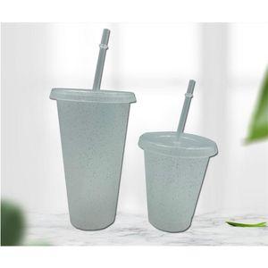 Фабрика с блеском пластиковых 24 унций мерцающие пьющие тумблеры соломенные летние многоразовые холодные напитки чашка красивый кофе б