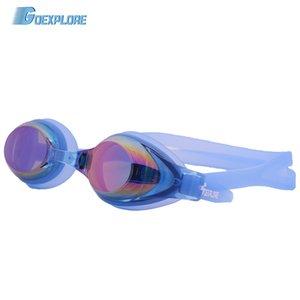 Goexplore Professional Waterproof Plating Clear Double Anti-fog Swim Glasses Anti-UV Men Women Eyewear Pool Swimming Goggles