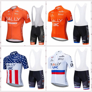 RALLY team summer Cycling Jersey Bib shorts Sets racing bike MEN short sleeve clothes Breathable Quick Dry sportwear S022202