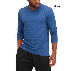 New hot style fitness clothes men's long-sleeve sports jacket quick-drying round neck basketball running training fitness clothes men
