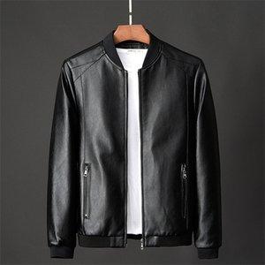 Vestes cuir veste bombardier apprendre pour hommes 2020 nouveau populaire coréen style slim Dunne tendance vêtements gentlemen fausse fourrure jassen