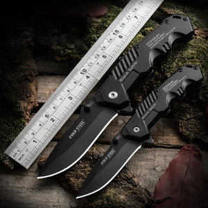High Quality Cold Steel HY217 Pocket Knife Folding Black Blade Knife 20cm Camping Knives Steel Handle
