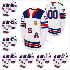 USA 2021 IIHF WJC Gold Winner Trevor Zegras Cam York Mattew Beeniers Matthew Boldy Cole Caufield Alex Turcotte Hunter Skinner Knight Jersey