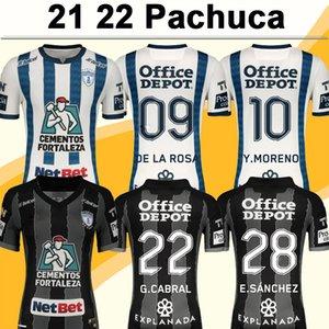 21 22 Pachuca K.Alvarez Mens Futbol Formaları V.Guzman Ibanez Figueroa Y.Moreno A.Hurtado G.Cabral E.Sanchez Ibarra Home Away Futbol Gömlek