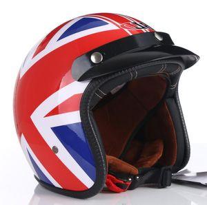 Vintage Motorcycle sun visor helmet 3 4 Open Face Helmets Casco Moto Jet Scooter Bike Helmet Retro approved Casque Motociclismo