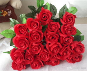 Fresh rose Artificial Flowers Real Touch Rose Flowers Home decorations for Wedding Party Birthday Festive