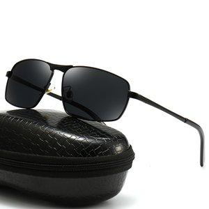 Polarized Sunglass Hd Fashion Driving Fishing Glass Metal Spring Foot Box Men's Sunglass