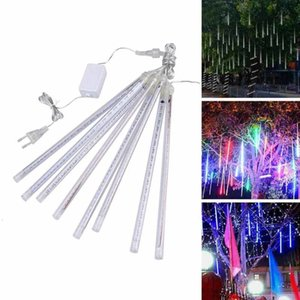 2021 8-led Tube Meteor Shower Water Drop Lamp High Brightness Line Lighting Outdoor Christmas and New Year Decoration 88q8