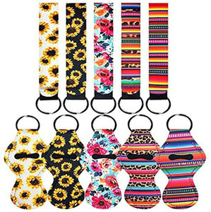 3 Pieces Travel Keychain Holders Kits Including 30ml Hand Sanitizer Holder Keychain Wristlet Keychains Lanyard Chapstick Holder DHL EWD5178
