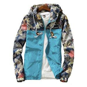 Women's Hooded 2020 Spring Causal Flowers Windbreaker Women Basic Coats Zipper Lightweight Jackets Bomber Famale
