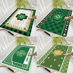 New St. Patrick Day floor mats household toilet bathroom non-slip mat absorbent foot mat DHF4934