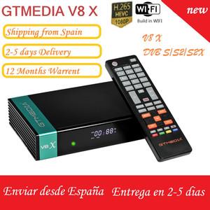 Gtmedia V8 X UHD DVB-S2 S2X T T2 Cable ATSC ISDBT satellite tv receiver Built in wifi Powered by Gtmedia upgrade receptor freesat v8 UHD