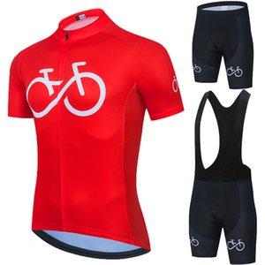 Neue Pro 2021 Rotes Radfahren Set Triathlon Fahrrad Kleidung Atmungsaktiv Anti-UV-Mountainbike-Kleidung Anzüge Radfahren Sommer Go Bike
