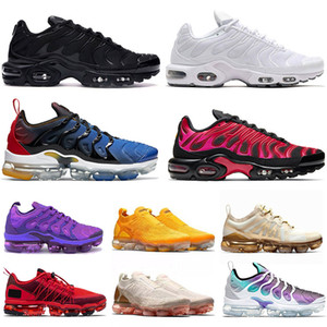 Nike Air max vapormax plus utility fly knit Hornets Cuscini Mens degli addestratori delle donne Free Shoes Sliver Uva Triple Black White Shark Womens Sport Sneakers