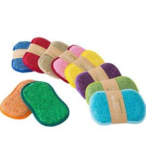 Sponges for Dishwashing Non-Scratch Microfiber Magic Sponge Brush Non Stick Cleaning Cloth Kitchen Tool Wash Pot