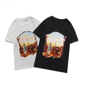 21SS High-End Letter Logo Printed Signature Tee Solid T-Shirt High Street Short Sleeves Men Women Travel Tee Summer Breathable Size XS-L