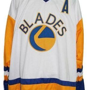 668 Nombre personalizado # Saskatoon Blades Retro Hockey Jersey Kelly Chase Hockey Jersey o Personalizado Cualquier nombre o Number Retro Jersey