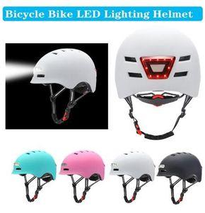 Iluminação ADVERTÊNCIA Capacete de uma peça com bicicleta de equilíbrio de bicicleta de bicicleta Capacete de bicicleta Homens e mulheres