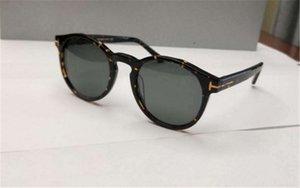 Бренд Солнцезащитные очки с черными / серыми солнцезащитные очки Sonnenbrille Retro Round New 0591 Очки FT Дизайнер Блестящий Box GJBOM