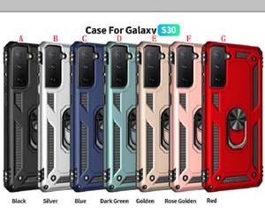 Support de voiture Bague à anneau magnétique pour Samsung S21 Plus S20 Fe Note 20 Ultra A32 5G A02S A21S Armure de défenseur Hybride Hybride Pochette arrière