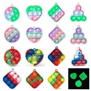 Pioneer Fidget Toys Push Key Chain rainbow children's mental arithmetic desktop decompression puzzle toy push poo-its G58YH9Q