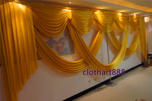 6M (20ft) wide swags for backdrop party background valance wedding backcloth stage curtain backdrop decorations stylist
