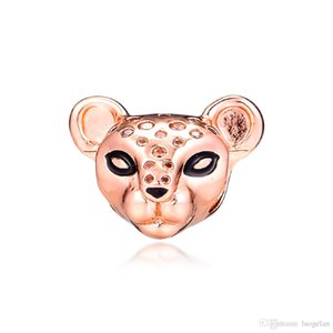 2019 Original 925 Sterling Silver Jewelry Pink glitter Lion princess Charm Beads Fits European Pandora Bracelets Necklace for Women Making