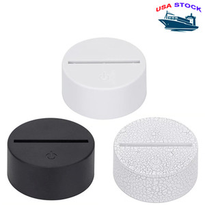 RGB 3D Night Light 4mm Acrylic Illusion Base lamp Battery Or DC 5V BUS Charging 3D Decoration Lamp