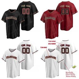 Männer Benutzerdefinierte Arizona-Baseball-Trikots machen Ihre eigenen Jersey-Sports-Shirts personalisierte Teamname und Number genäht