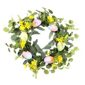 Easter Wreath Artificial Eucalyptus Eggs Wreath for Front Door Wall Window Wedding Party Farmhouse Garden Home Decor